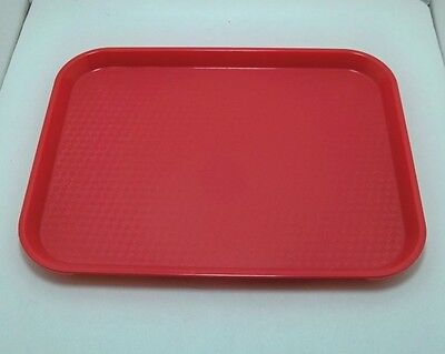 Lot Of 50 Cambro 10 X 14 In Red Cafeteria Restaurant Serving Trays Lunch 1014ff