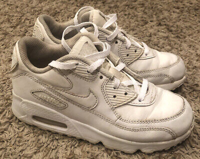 Nike Air Max '90 Triple White Boys Girls  Running Shoes 833414-100 Size 1Y NICE