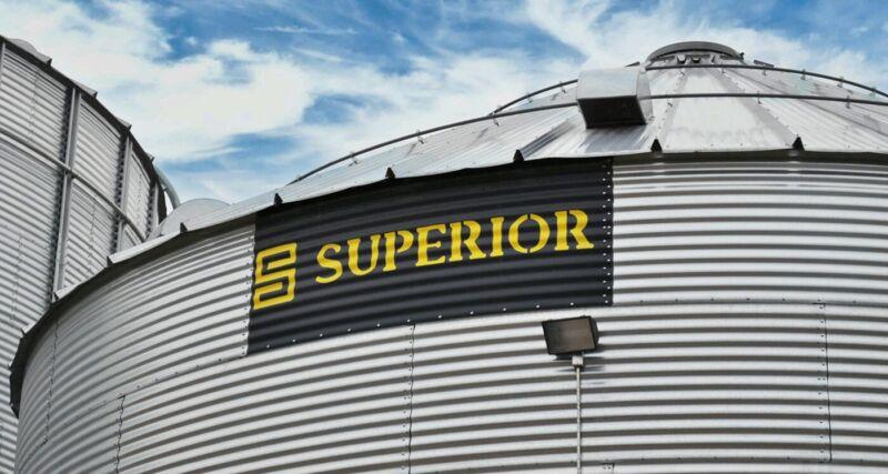 Superior Grain Bin 48 ft 10 ring 62,395 bushel