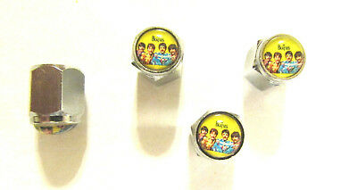 The Beatles Tire Valve Stem Caps, Beatles Logo Tire Caps, Beatles tire Valve cap for sale  Shipping to India
