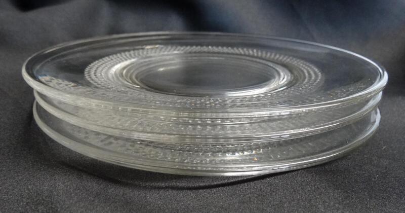 Set 3 Duncan Miller Crystal Clear Teardrop Saucers