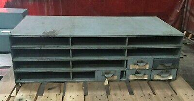 Lyon Metal Supply Bin Cabinet W 5 Drawers 34 X 17 X 10 12