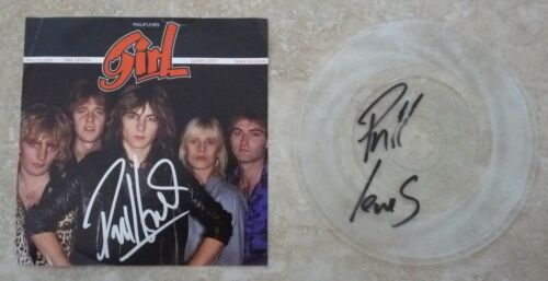 "Phil Lewis L.A. Guns GIRL DOUBLE Signed Autographed 7"" 45 Record PSA Guaranteed"