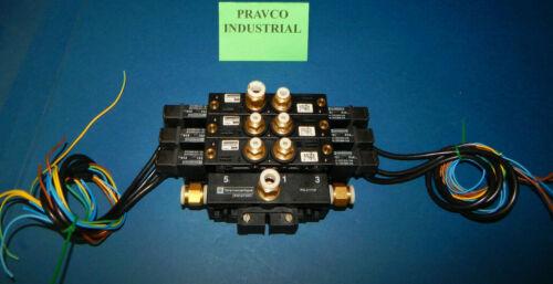 Parker PVLC17137 Pneumatic Valve With 3 Parker Valves PVLC17137