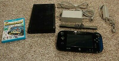 Nintendo Wii U 32GB Console Deluxe Set with Nintendo Land - Black (WUPSKAFB)