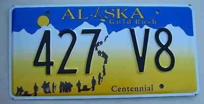 """ALASKA VANITY LICENSE PLATE """" 427 V8 """"  CHEVY CORVETTE VETTE  FORD MUSTANG"""