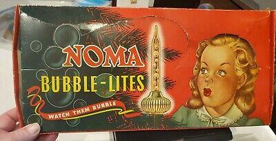 NOMA BOX BUBBLE LIGHTS 9 LIGHTS ORIGINAL LITTLE GIRL BOX