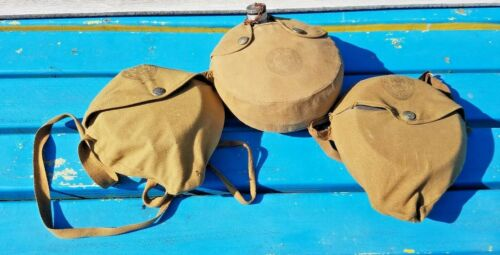 Vintage Lot of 3 Official BSA Mess Kits Canteen Boy Scout Cooking Camping