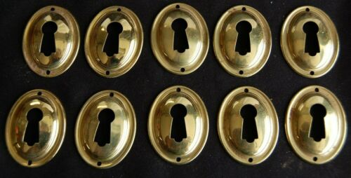 10 Key Hole Cover Vintage Solid Brass Escutcheon Drawer Cabinet Box Free Shiping