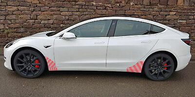 Tesla Model 3 Transparente Schutzfolie Seitenschweller VORNE + HINTEN