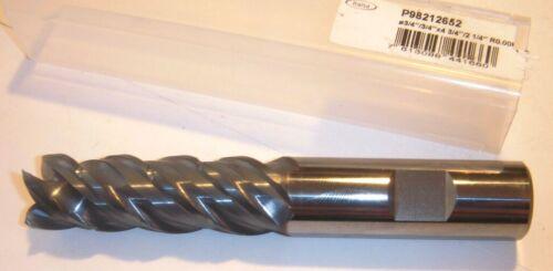 """FRAISA 3/4"""" X 3/4 X 2-1/4 X 4-3/4"""" Carbide End Mill 4FL .006 Radius COOLANT THRU"""