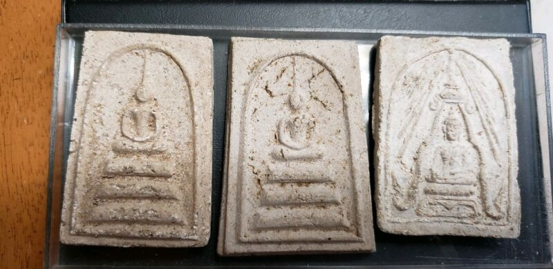 3 THAILAND BUDDHIST TEMPLE AMULETS
