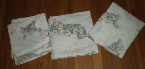 Sears Sleeping Chessie Cat Kitten C&O RR Chesapeake & Ohio 3pc Sheet Set Vintage