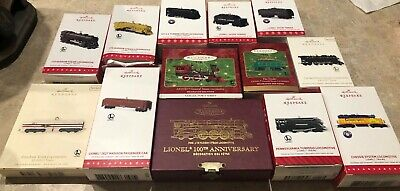Set of 13 Hallmark Keepsake Lionel Train Christmas Ornaments NEW NIB Some RARE