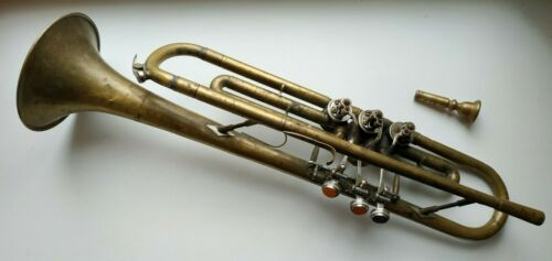Soviet Wind pipe Alto Vintage USSR trumpet musical Instrument RARE Russian