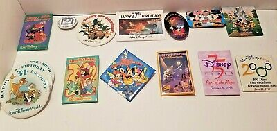 DISNEY ANNIVERSARY & BIRTHDAY BUTTONs / PINs - RARE