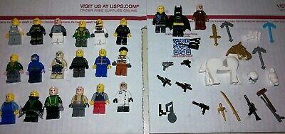Lego Minifigure And Accessories lot of 44 Batman guns swords stormtrooper helmet (Guns And Swords)