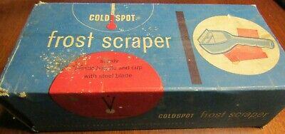 VINTAGE COLDSPOT FROST CAR AUTO SCRAPER IN ORIGINAL BOX-HEAVY DUTY PLASTIC.