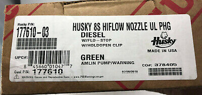Husky 177610-03 8s Hiflow Hd Diesel Fuel Pump Nozzle W Flo-stop Hold Open Clip