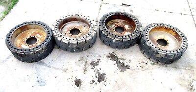 Caterpillar 447-1131 Solid Rubber Loader Tires 914m 914k 910k 910m 15 17.5x25