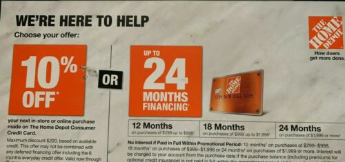 Home Depot Coupon 10% OFF In-Store OR ONLINE EXP 3-31-21