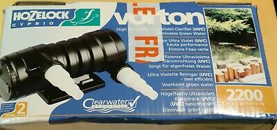 Hozelock Cyprio Vorton 1550 UV Ultra Violet Clarifier 2200 litre Max Pond Size