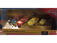FIREBALL BEACH RACE 4 PACK Disney Pixar Die Cast Cars 3 Scale 1:55 BNIB