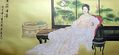"G:Stunning chinese famous Watercolor painting""52wx25h"" -ancient beauty"