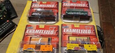 Maisto Custom Shop Enamelized Graffiti Diecast Train Collection lot of four