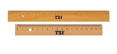 2 TSI Holzlineale / je 1x 17cm + 30cm / mit Metallkante