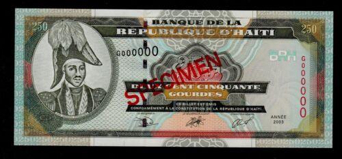 HAITI  SPECIMEN 250 GOURDES 2003 PICK # 269  UNC.