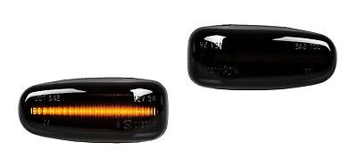 2 X LED SEITENBLINKER BLINKER SMOKE SCHWARZ Mercedes W210 R170 W208 C208 SB19