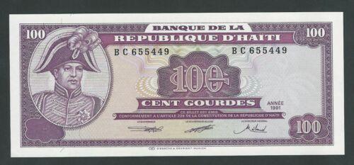 HAITI  100 GOURDES 1991  P- 258  UNC