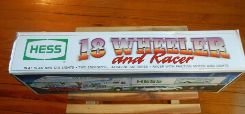 Hess 1992 Edition 18 Wheeler and Racer Porsche Car With Working Lights