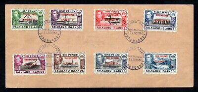 Falkland Island Dependencies - 1944 KGVI South Shetlands Overprints Set on Cover