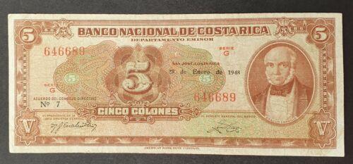 Banco Nacional de Costa Rica - 5 colones P-209