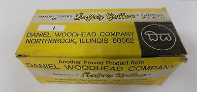 Woodhead 15a 277v Safety Yellow Cord Connectors 1534 Box Of 10