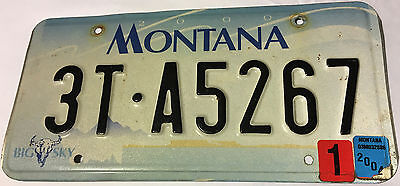 Montana license plate, number 3T-A5267-13 years old!