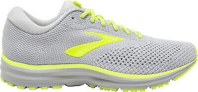 Brooks Revel 2 Mens Running Shoes Grey Knit Upper DNA Cushioning Run Trainers
