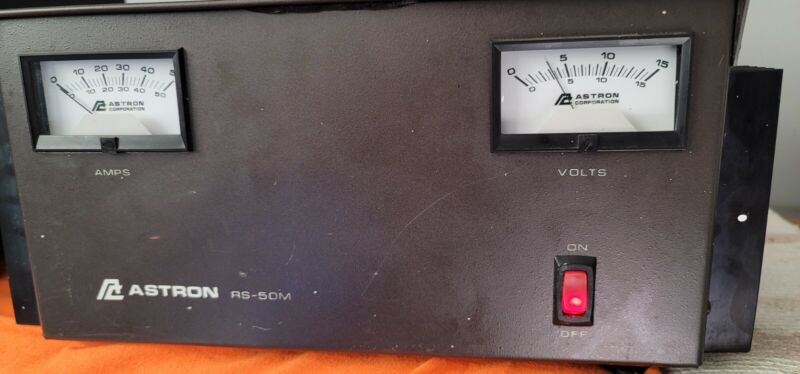 ASTRON POWER SUPPLY RS 50 13.8VDC 50AMP