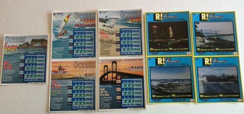 Rhode Island Highlights  Instant SV Lottery Ticket Set,  9 different tickets