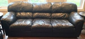 Blue Leather sofa and love seat