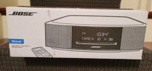 New Bose® Wave® Music System IV with CD Player & Touch Controls Platinum Silver