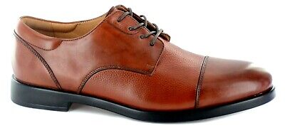 La Milano Men's Dress Shoes Genuine Leather Extra wide 3E (EEE) Tobacco, Cap Toe - Extra Wide Mens Dress Shoes