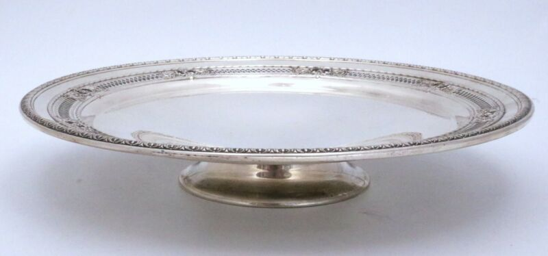 International Sterling Silver Tray Footed