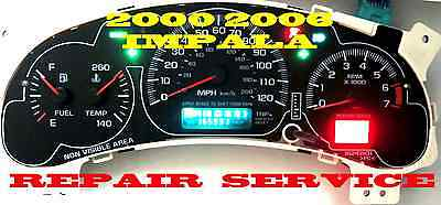 2000 2005 IMPALA MONTE CARLO INSTRUMENT CLUSTER EXCHANGE with TACH