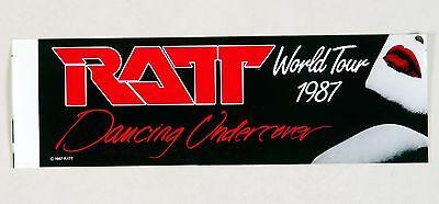 RATT Dancing Undercover World Tour 1987 Vintage Sticker Decal 12 x 3.75