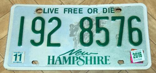 US Nummernschild Kennzeichen USA New Hampshire Licence Plate I92 8576