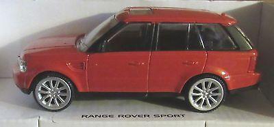 RASTAR RANGE ROVER SPORT RED 143 SCALE DIECAST MODEL CAR LAND
