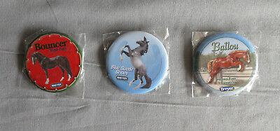 Breyer Buttons Silver, Newsworthy, Bouncer Molds - Set of 3